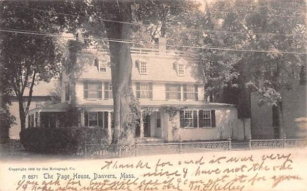 The Page House  Danvers, Massachusetts Postcard