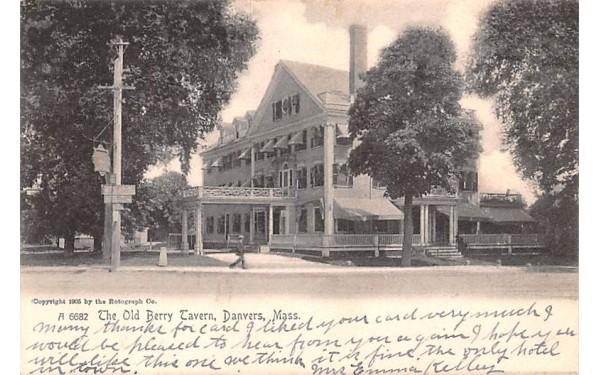 The Old Berry Tavern Danvers, Massachusetts Postcard