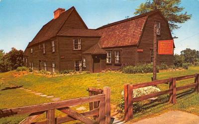 The Fairbanks Homestead Dedham, Massachusetts Postcard