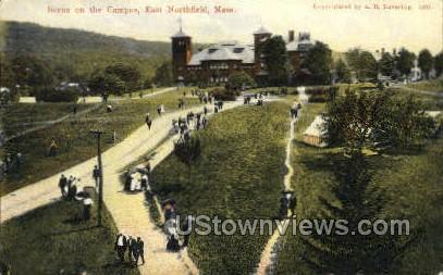 Campus - East Northfield, Massachusetts MA Postcard