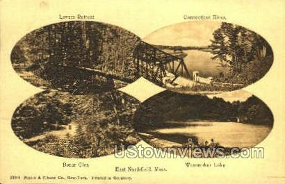 Bonar Glen & Wanamaker Lake - East Northfield, Massachusetts MA Postcard