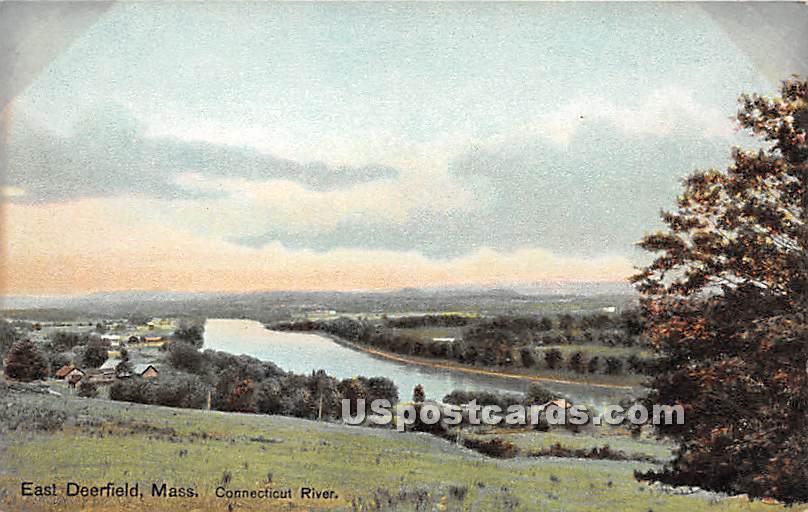 Connecticut River - East Deerfield, Massachusetts MA Postcard