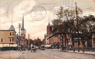 Broadway  Everrett, Massachusetts Postcard