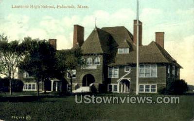 Laurence High School - Falmouth, Massachusetts MA Postcard