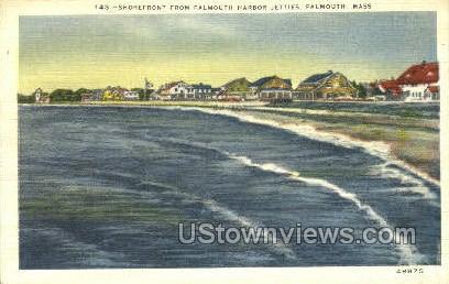 Falmouth Harbor Jetties - Massachusetts MA Postcard