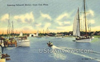 Falmouth Harbor - Cape Cod, Massachusetts MA Postcard