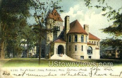 The Millicent Library - Fairhaven, Massachusetts MA Postcard