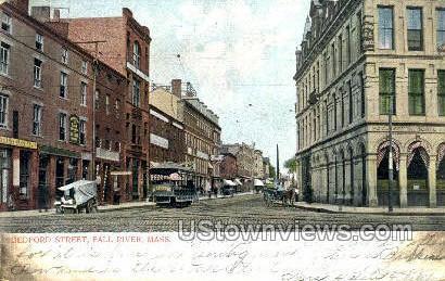 Bedford St. - Fall River, Massachusetts MA Postcard