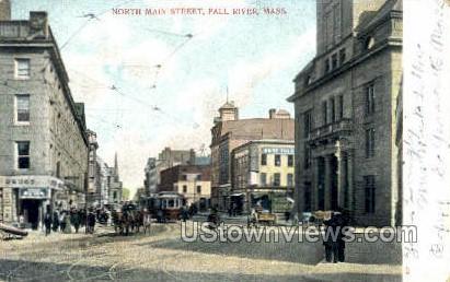 Main St. - Fall River, Massachusetts MA Postcard