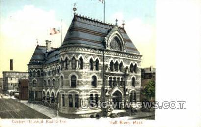 Custom House & Post Office - Fall River, Massachusetts MA Postcard
