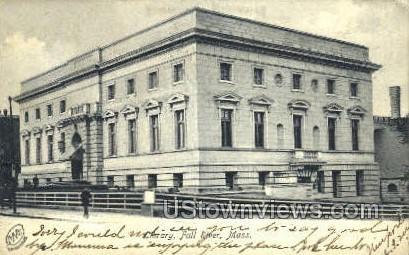 Library - Fall River, Massachusetts MA Postcard