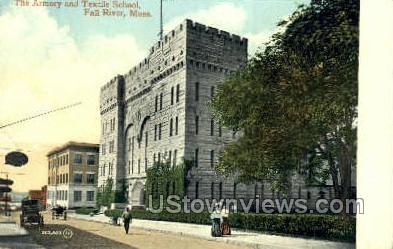 The Armory & Textile School - Fall River, Massachusetts MA Postcard