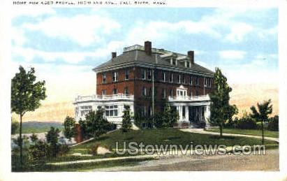 Home for the Aged People - Fall River, Massachusetts MA Postcard