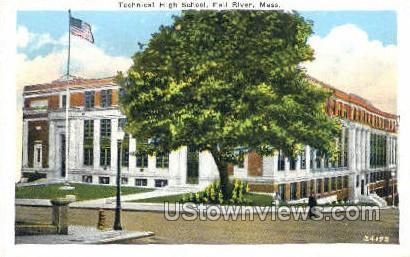 Technical High School - Fall River, Massachusetts MA Postcard