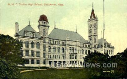B.M.C. Durfee High School - Fall River, Massachusetts MA Postcard