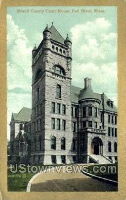 Bristol County Court House - Fall River, Massachusetts MA Postcard