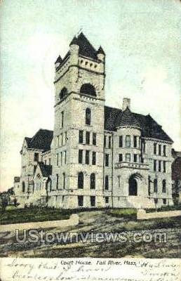 Court House - Fall River, Massachusetts MA Postcard