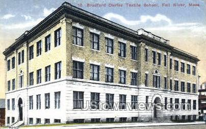 Bradford Durford Textile School - Fall River, Massachusetts MA Postcard