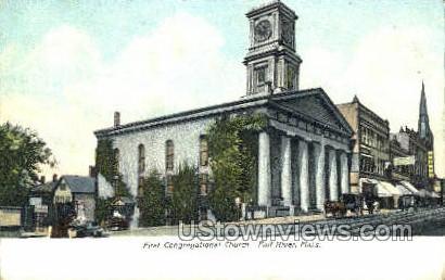 First Congregational Church - Fall River, Massachusetts MA Postcard