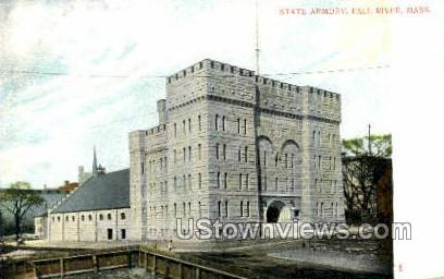State Armory - Fall River, Massachusetts MA Postcard