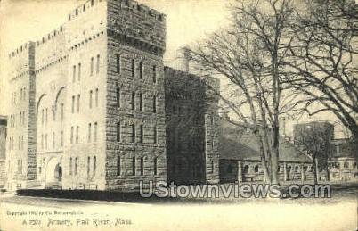 Armory - Fall River, Massachusetts MA Postcard