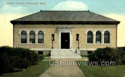 Public Library - Falmouth, Massachusetts MA Postcard