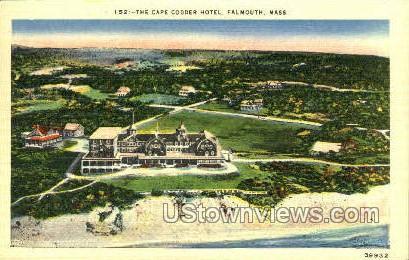 The Cape Codder Hotel - Falmouth, Massachusetts MA Postcard