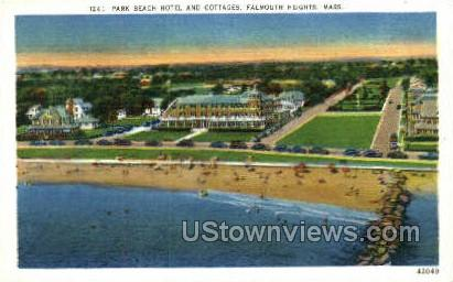 Park Beach Hotel & Cottages - Falmouth, Massachusetts MA Postcard