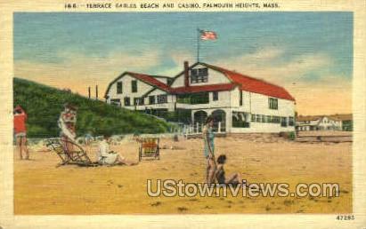 Terrace Gables Beach & Casino - Falmouth, Massachusetts MA Postcard