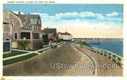 Grand Ave. - Falmouth, Massachusetts MA Postcard