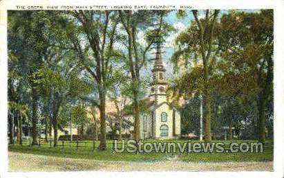 The Green - Falmouth, Massachusetts MA Postcard