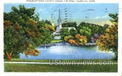 Congragational Church - Falmouth, Massachusetts MA Postcard
