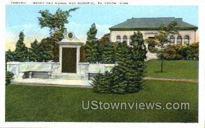 Memorial Library - Falmouth, Massachusetts MA Postcard