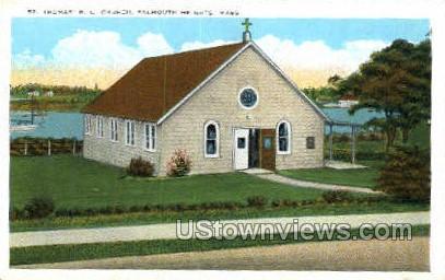 St. Thomas R.C. Church - Falmouth, Massachusetts MA Postcard