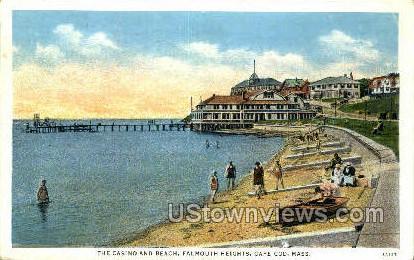 The Casino & Beach - Falmouth, Massachusetts MA Postcard