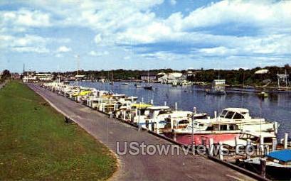 Falmouth Marina - Massachusetts MA Postcard