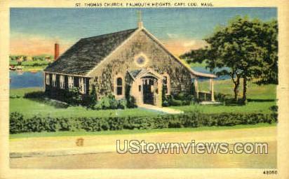 St. Thomas Church - Falmouth, Massachusetts MA Postcard