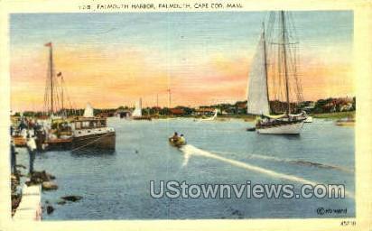 Falmouth Harbor - Massachusetts MA Postcard