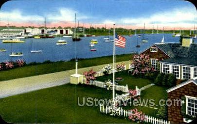 Harbor - Falmouth, Massachusetts MA Postcard