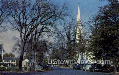 Falmouth Green - Massachusetts MA Postcard