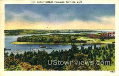 Quisset Harbor - Falmouth, Massachusetts MA Postcard