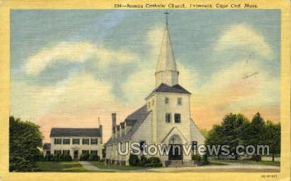 Roman Catholic Church - Falmouth, Massachusetts MA Postcard
