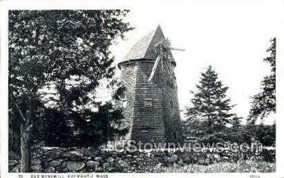 Old Windmill - Falmouth, Massachusetts MA Postcard
