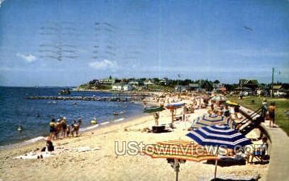 Falmouth Heights Beach - Massachusetts MA Postcard