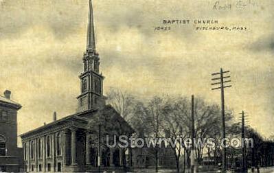 Baptist Church - Fitchburg, Massachusetts MA Postcard