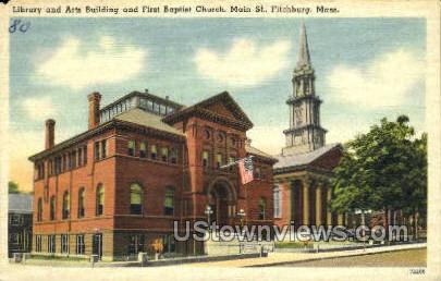 Library & Arts Building - Fitchburg, Massachusetts MA Postcard
