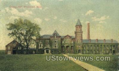 County Jail - Fitchburg, Massachusetts MA Postcard