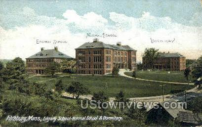 Edgarly School-Normal School - Fitchburg, Massachusetts MA Postcard