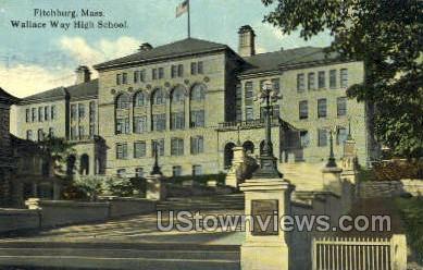 Wallace Way High School - Fitchburg, Massachusetts MA Postcard