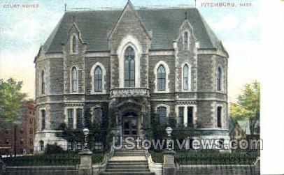 Court House - Fitchburg, Massachusetts MA Postcard